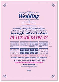 Playfair Display - Specimen on Behance