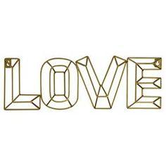 Love Wire Wall Décor Gold - Pillowfort™ : Target