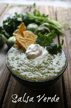 My Salsa Verde or Green Salsa is a roasted blend of tomatillos, jalapenos…