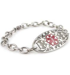 MacKenzie Gardenia Stainless Medical ID Bracelet