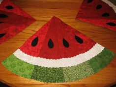 Watermelon Placemat; Not a pattern here, but the name of the book it is featured in.