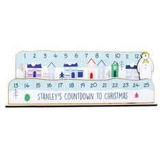 Personalised Make Your Own Advent Countdown Kit - The Snowman