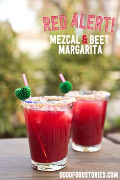 mezcal and beet marg