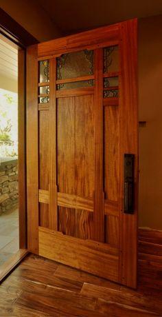 Now that's a door. Craftsman Door Company - Art Glass by Theodore Ellison Designs