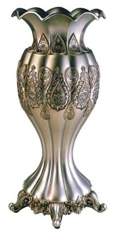 Ore International K-4199V Traditional Royal Decorative Vase, 15.75-Inch, Metallic Silver/Gold * You can get more details by clicking on the image. (This is an affiliate link) #CozyHomeDecor