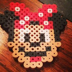 Minnie Mouse perler beads by 16goingon17
