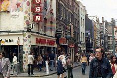 Carnaby Street, SOHO, LONDON, 1973.