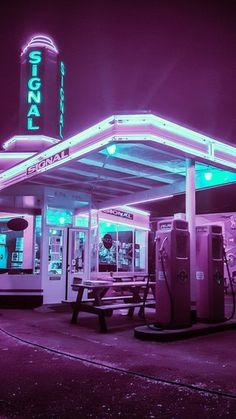 """Résultat de recherche d'images pour """"gas station synthwave"""""""