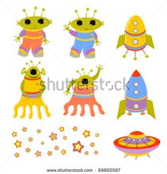 stock vector : Set of beautiful baby icons