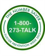 The Number Saver- The National Suicide Prevention Hotline exists to support you, call us at 1-800-273-TALK (8255) and collect this badge. http://www.suicidepreventionlifeline.org/getinvolved/badge-bingo.aspx