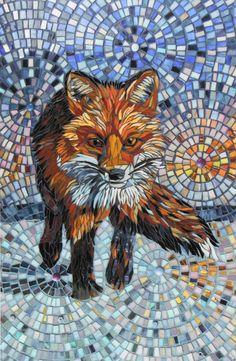 Fox Print Homeward Bound Glass Mosaic Fox by LAMosaicGifts