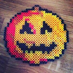 Halloween pumpkin hama perler beads by alfe_mor