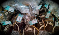 football baby shower   Football Cookie Favors for Baby Shower