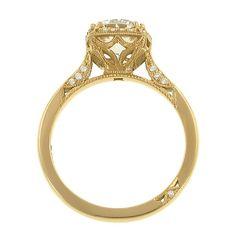 Yellow gold #Tacori engagement ring
