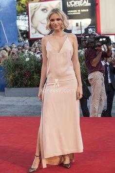 Caterina Shulha Casual Blush Ankle Length Prom Dress Venice Film Festival 2016
