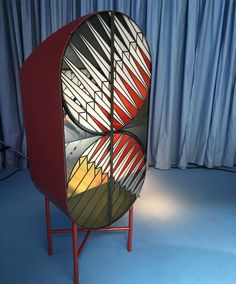 """via @dwellmagazine: A cabinet of lacquered metal and stained glass created as part of the Credenza collection for Spazio Pontaccio by Patricia Urquiola and Federico Pepe. """"In any field people who work with a handcrafted attitude ... are never scared"""" says Urquiola."""