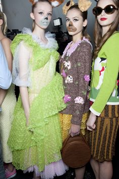 Inspired by… The fairytale princess all-grown-up and playing house as she waits for the perfect man to come along. #LFW #RyanLo #FashionEast #NEWGEN #SS14 #makeup