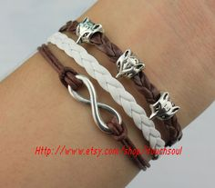 Antique Silver The fox head bracelet  Infinity by itouchsoul, $3.99