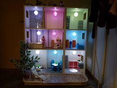 DIY Barbie house by night