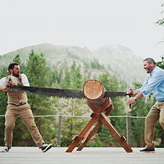 The happiest gay lumberjack wedding ever | Offbeat Bride (I LOVE THIS WEDDING)