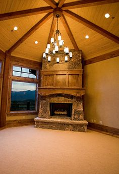 Park City, Utah by Cameo Homes Inc. rustic living room