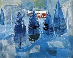 Red House and Spruces 1927. Edward Munch (1863-1944)