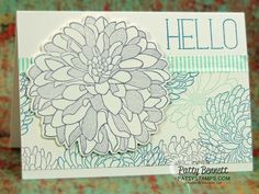 Regarding Dahlias Stampin Up note card featuring the One Sheet Wonder stamping technique. Washi Tape Accents