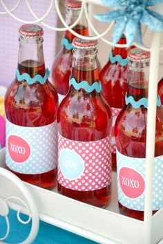 Drinks at a Valentine Party #valentinesday #partydrinks