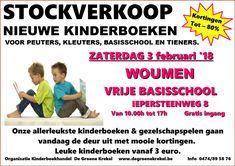 Stockverkoop kinder- & vrijetijdsboeken -- Woumen -- 03/02