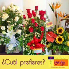 ¿Cuál prefieres de estos hermosos arreglos florales?  Somos tu mejor opción #FloristeríaEvelyn con diseños exclusivos y de calidad.
