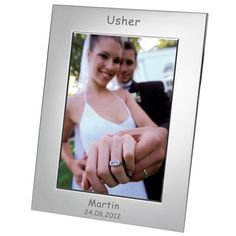 Engraved Usher Silver Plated Photo Frame - 7x5  from Personalised Gifts Shop - ONLY £17.95