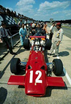 Ferrari, Pedro Rodríguez, 1969, Silverstone.