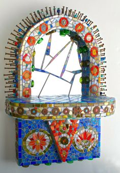Wilma Wyss new work reception ~ institute of mosaic art,  Berkley, Ca