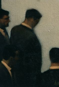 untitled picture by Anne Magill (contemporary), Irish-born, lives in Britain (annemagill) Painting People, Figure Painting, Painting & Drawing, Dark Artwork, Op Art, Illustration Art, Illustrations, Contemporary Art, Sculpture