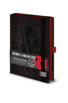 Sons Of Anarchy reaper logo premium A5 Notebook - Paradiso Clothing