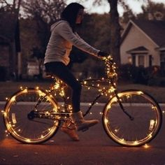 Bicycle Lights. This simply makes me happy.
