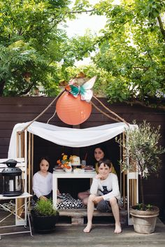 DIY simple wooden playhouse | A Subtle Revelry
