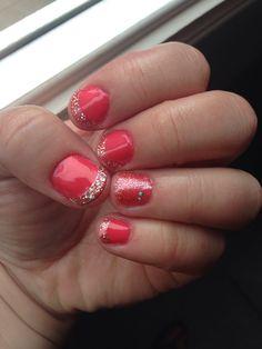 Shellac Tropix & glitter tips