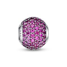 """July Birthstone-Bright Magenta paved crystal charm❤ Compatible Pandora Charms. Fits all brands bracelet.Wonderful gifts for family,lover,friends...Get 5% off on www.glamulet.com with coupon code """"PIN5"""" #Glamulet"""