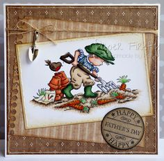 LOTV - Vegetable Gardener with Country Gent Paper Pad and Happy Circular Sentiment by Kat Waskett