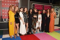 2015 MTV Video Music Awards: what they're wearing: Gigi Hadid, Martha Hunt, Hailee Steinfeld, Cara Delevingne, Selena Gomez, Taylor Swift, Serayah, Mariska Hargitay, Lily Aldridge and Karlie Kloss