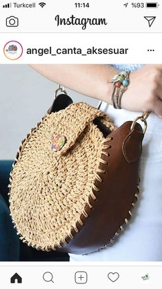 Best 11 Pin by Sebile Akcay on Çanta // ljubov leto – Skill Crochet Tote, Crochet Purses, Sacs Design, Round Bag, Cute Bags, Knitted Bags, Handmade Bags, Beautiful Bags, Leather Craft