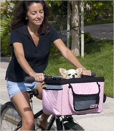 Buddy Dog Bike Basket – Pink « dogsiteworld.com