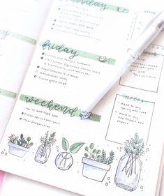 Little plant doodles by ig Absolutely amazing bullet journal spread. Little plant doodles by ig Absolutely amazing bullet journal spread. Bullet Journal Work, Bullet Journal Spread, Bullet Journal Ideas Pages, Bullet Journal Layout, Bullet Journal Inspiration, Journal Pages, Bullet Journals, Plant Doodles, Filofax Pocket