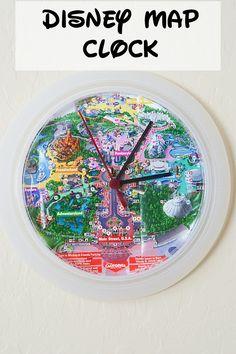 DIY Disney Map Clock