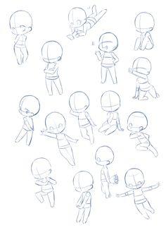デフォルメキャラポーズ15種類。 Chibi Drawing, Chibi Sketch, Anime Sketch, Manga Drawing, Drawing Sketches, Baby Drawing, Drawing Techniques, Drawing Skills, Drawing Body Poses