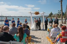 "The ceremony. Repin if you ""Like""! Click www.rksshots.com #RksPhotography #SanDiegoPhotography #BahiaResortHotel #Wedding #ChristaAndJoe #WeddingCeramony"
