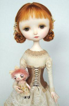 Polymer clay Dolls, art doll by ana Salvado