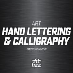 I've been a fan of calligraphy ever since I can remember. I'll never forget the calligraphy pens and paper I got from my dad when I was in fourth or fifth grade. I still have them. Calligraphy is one of the under-appreciated art forms now that everything is digital but I think there is starting to be a rebirth movement happening. | fitfizzstudio.com