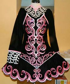 Irish Dance Solo Dress Costume by Michelle Lewis of Lewis Irish Dresses